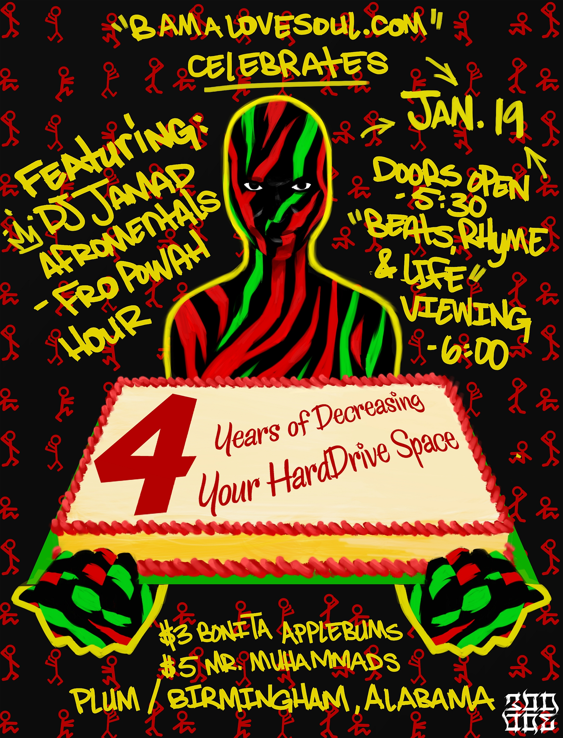 BamaLoveSoul.com 4 Year Anniversary w/DJ Jamad January, 19 2012