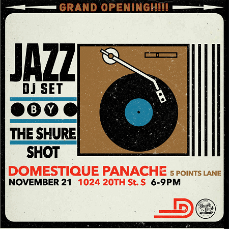 The Shure Shot (DJ Rahdu & Suaze) – Jazz Set at Domestique Panache Grand Opening
